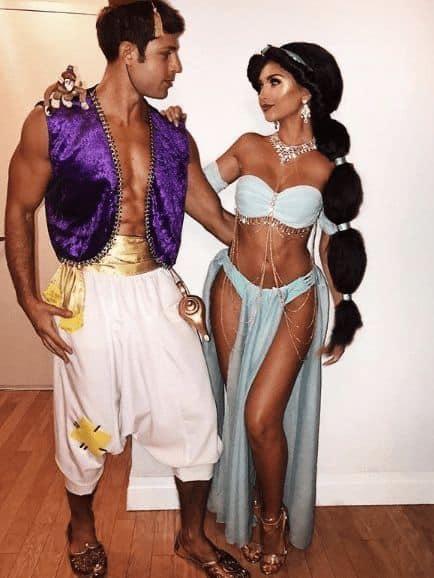 cute diy couple halloween costumes Jasmine and Aladdin