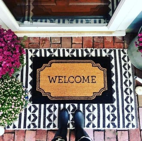 cute front door look doormat cute welcome doormat