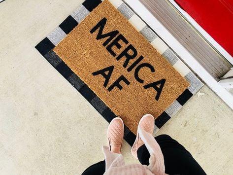 cute ideas layered doormat america af cute doormat