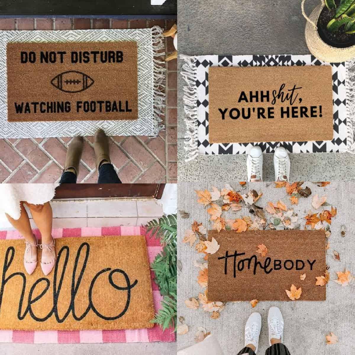 cute layered doormat ideas