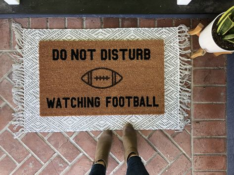 cute layered front rug look funny football dormat