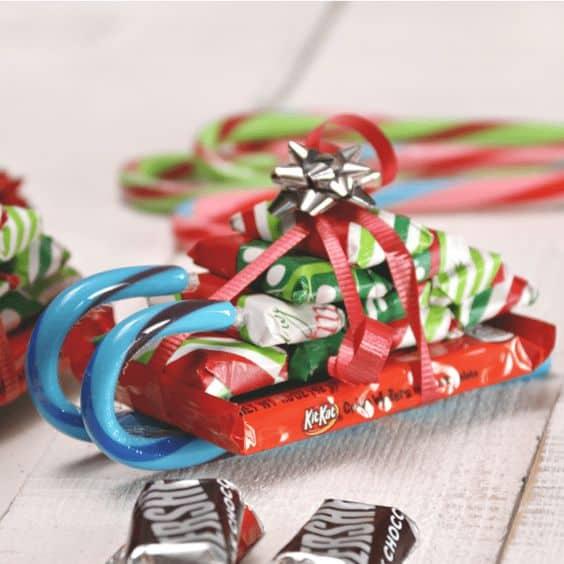 diy best friend gift ideas candy sleigh