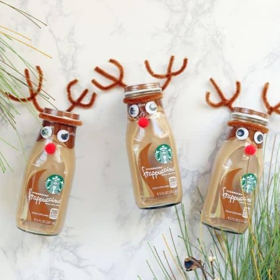 diy christmas gift ideas starbucks reindeer drinks