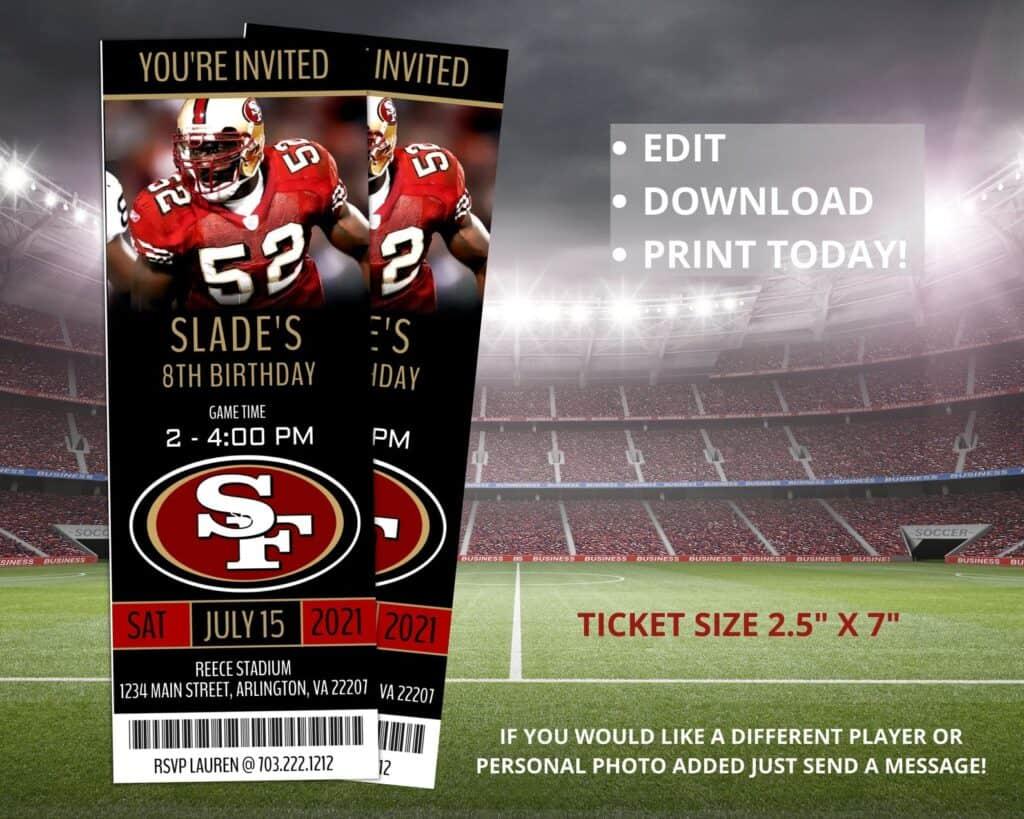 Stocking stuffer ideas for boyfriend custom football tickets etsy