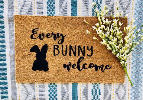 front door cute doormat every bunny welcome doormat