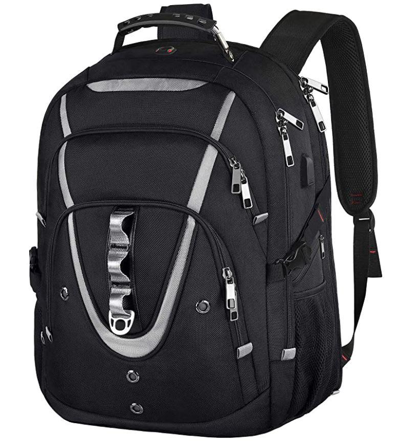 gaming laptop backpack for college men multiple departments black backpack