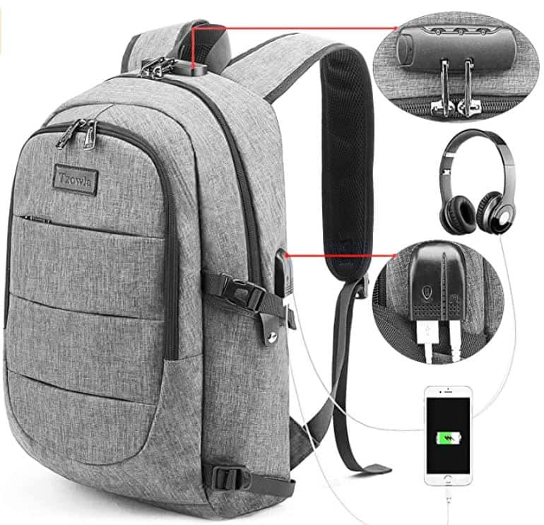grey backpack for men in college light grey backpack with charger