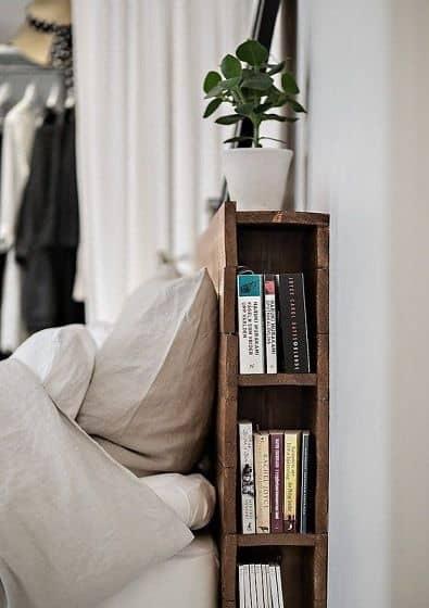home small space organization bedroom bookshelf