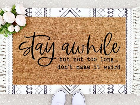layered doormat ideas stay ahwile funny saying