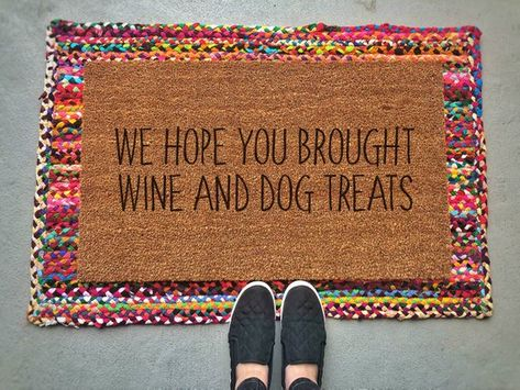 layered doormat cute ideas wine and dog treats layered doormat