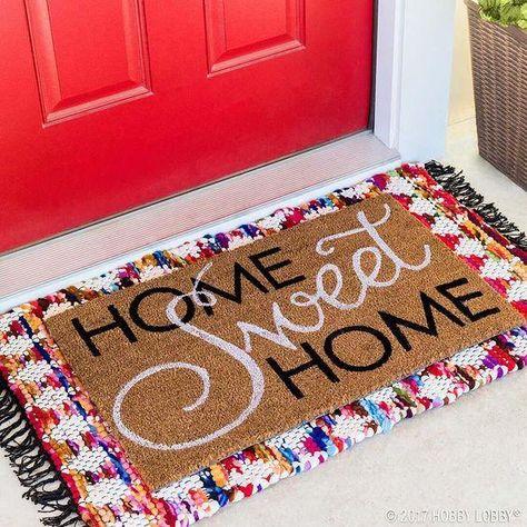 layered front doormat ideas home sweet home cute doormat