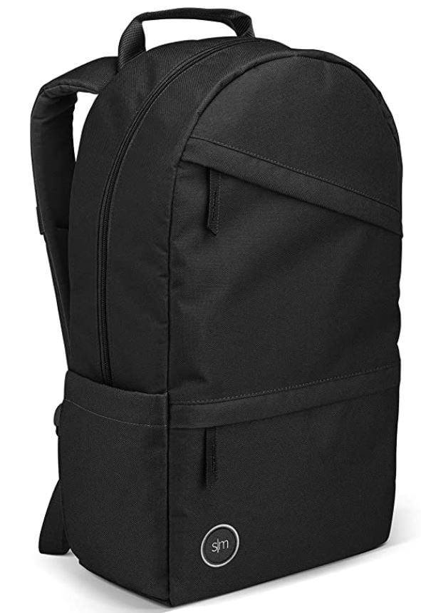 modern backpack for men in college black slim backpack