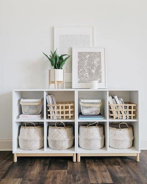 organization tips small living space living room cubbies