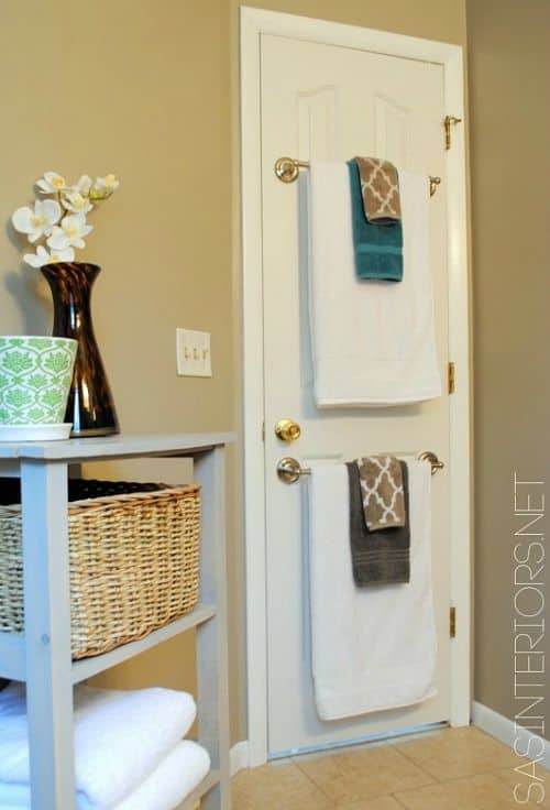 small area organization back of door storage