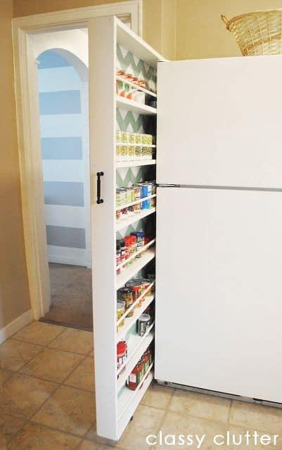 small space organization hacks kitchen storage slider