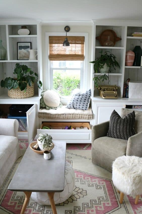 small space organization tips living room space