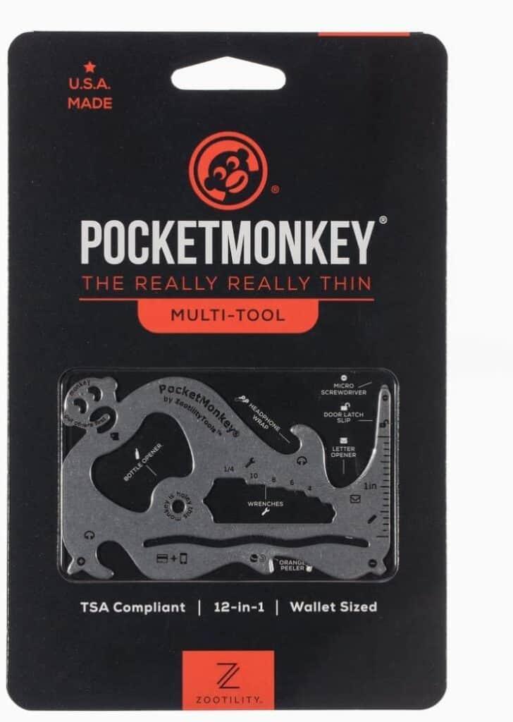 stocking stuffer for boyfriend, pocket monkey multitool, wallet size