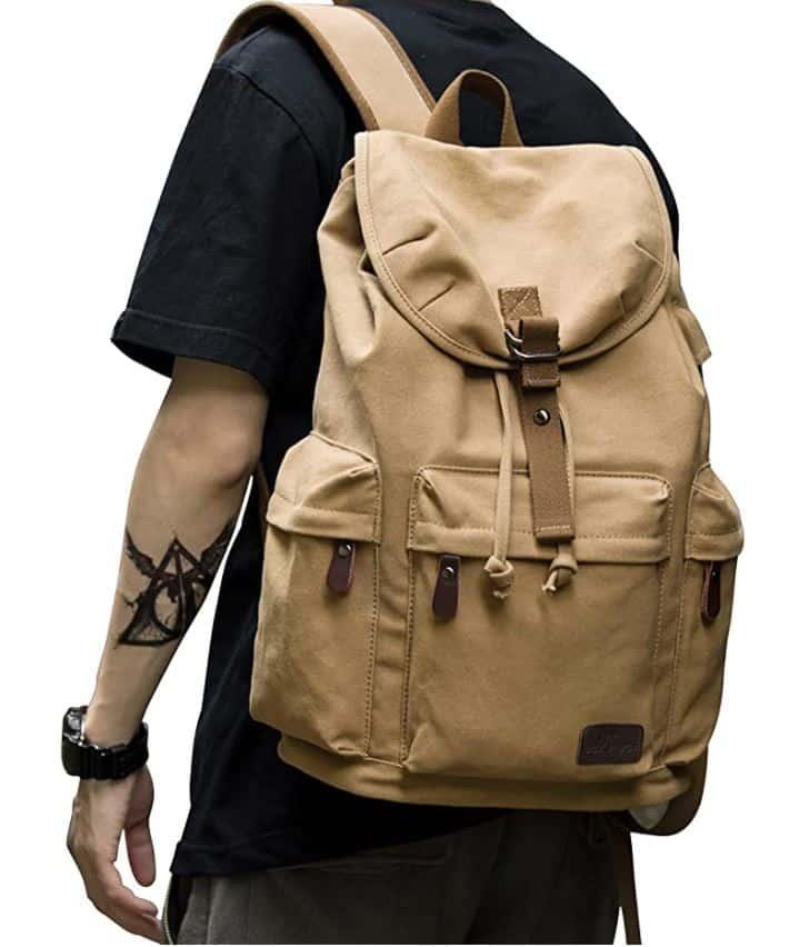 vintage backpack college backpacks for men light colored style backpack